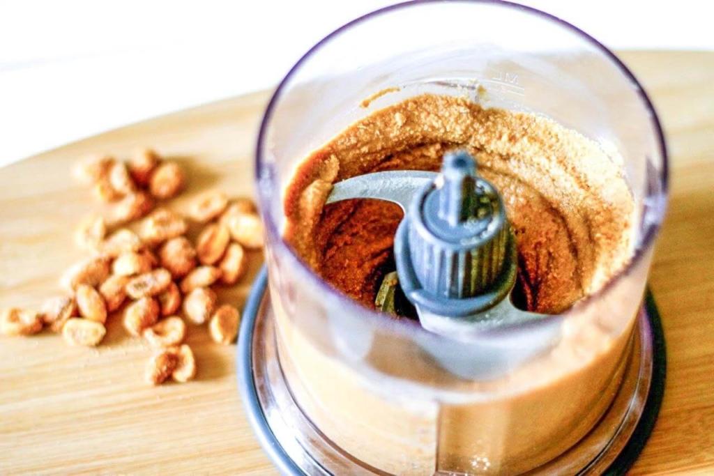 Приготовление арахисовой пасты