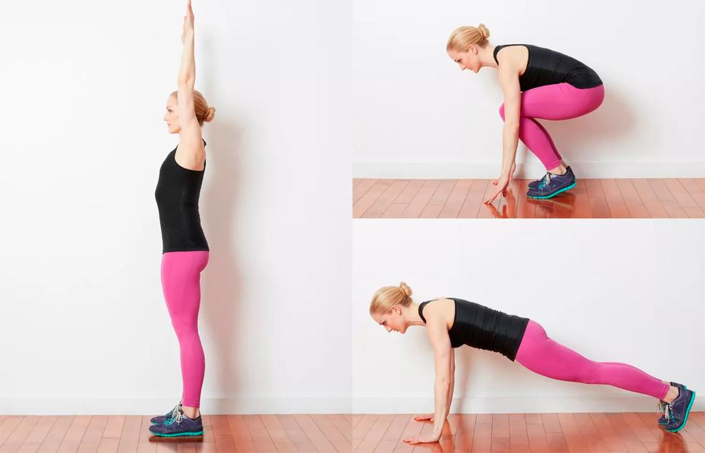 Берпи – одно из самых эффективных упражнений, чтобы привести тело в тонус