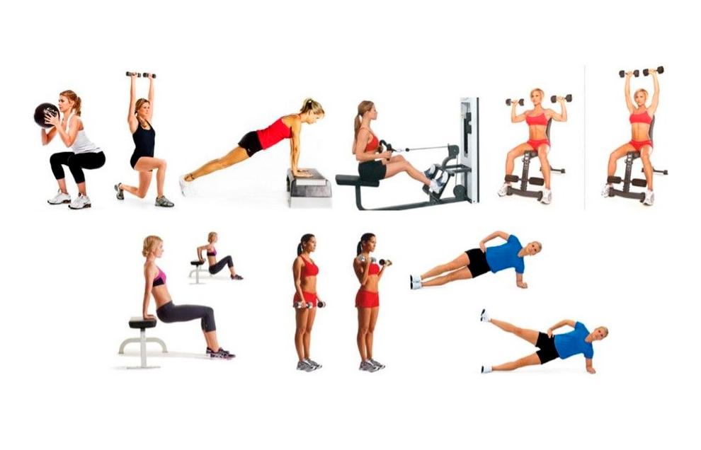 Возможные варианты упражнений для круговой тренировки