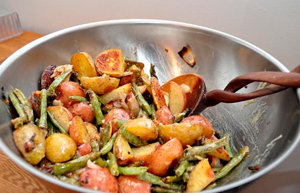 Рагу из картофеля и стручковой фасоли