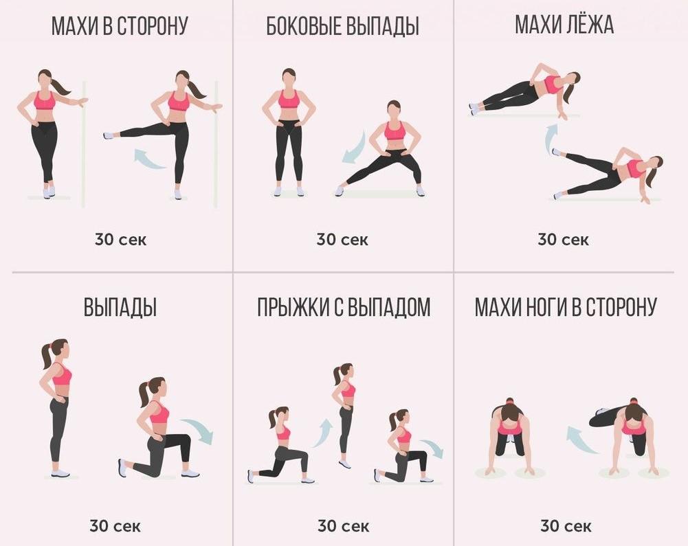 Домашний комплекс упражнений для ног и бедер