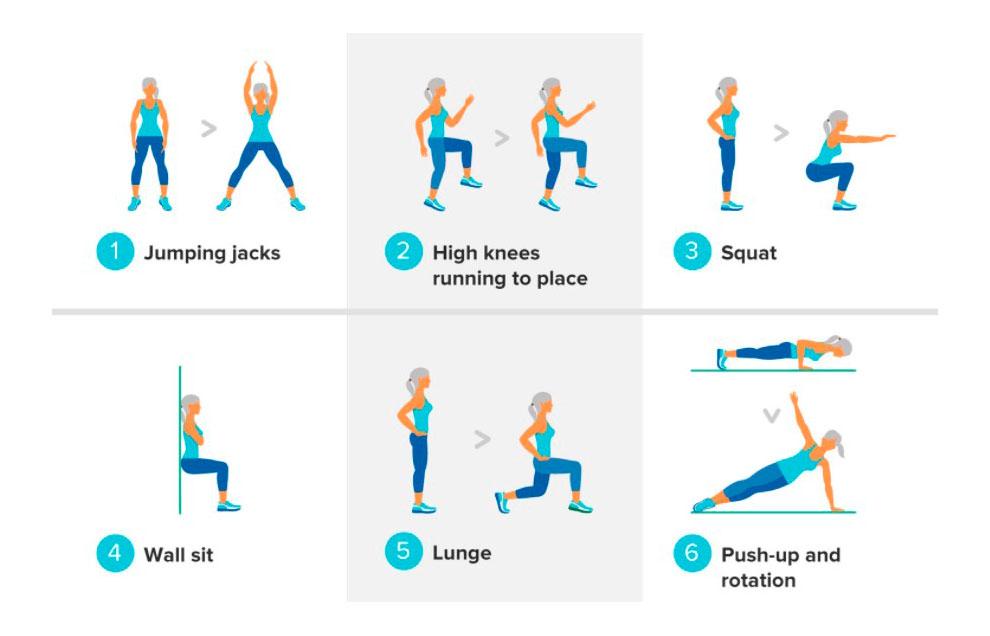 Пример ВИИТ тренировки для дома