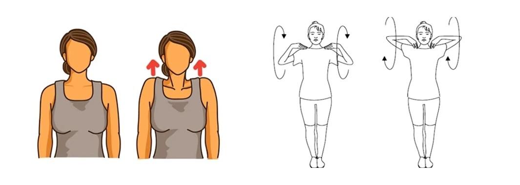 Пожимания плечами и круговые вращения