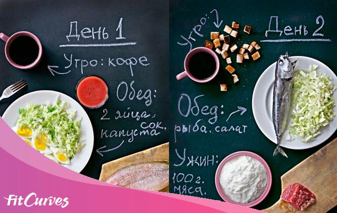 меню 14-дневной японской диеты