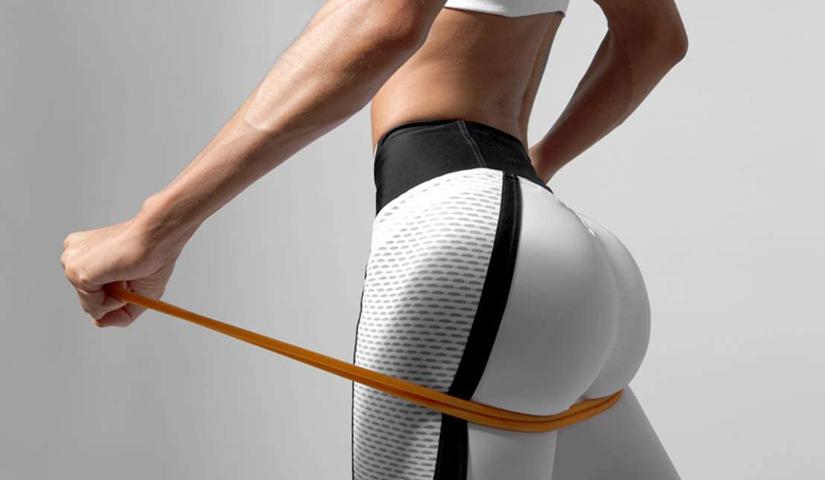 как накачать попу с фитнес резинкой